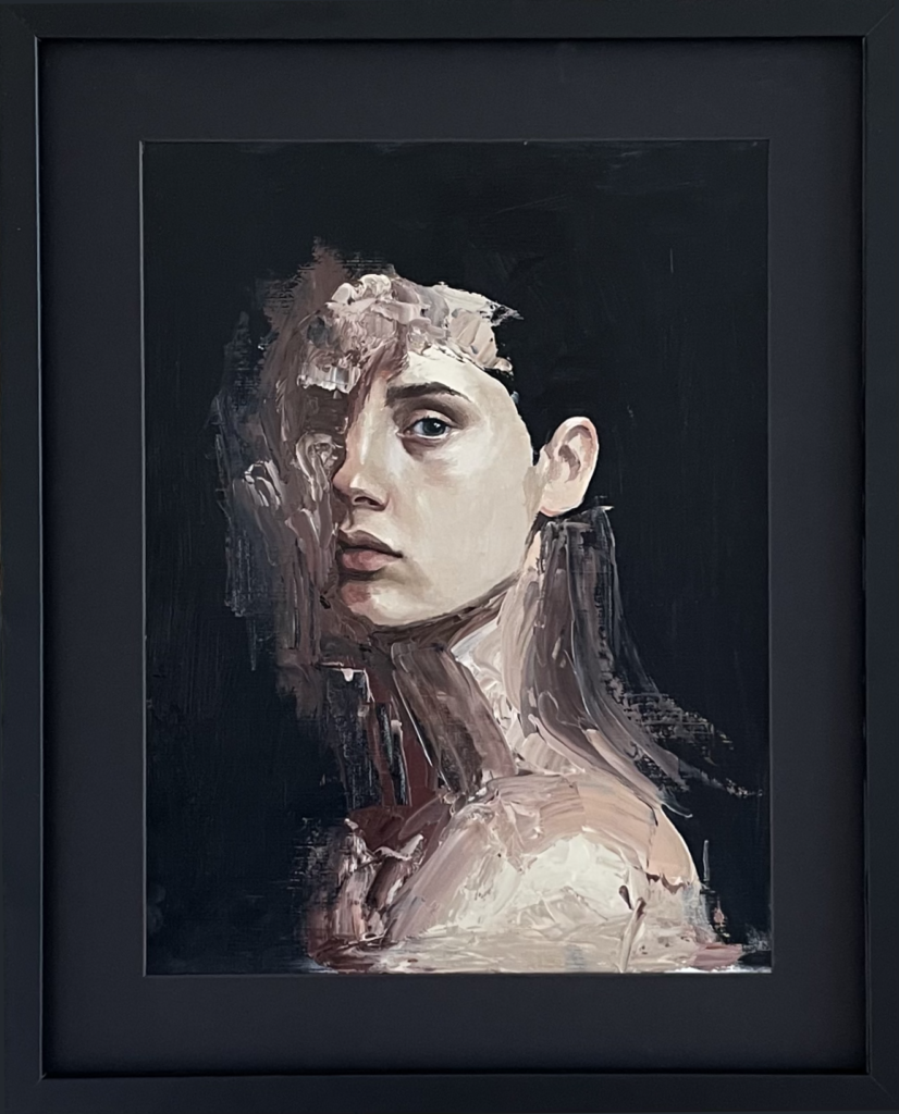 Portrait of a woman on a dark background